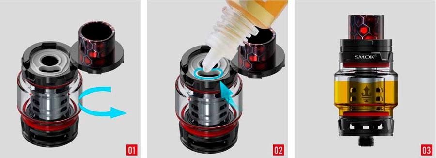 SMOK-TFV12-P-filling